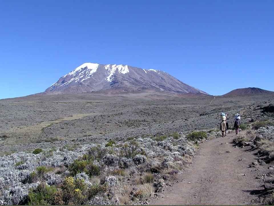 Povrch Vysoká průměrná nadmořská výška – značnou část tvoří náhorní tabulová plošina. Nejvyšší hora – Kilimandžáro (5895 m n. m.)