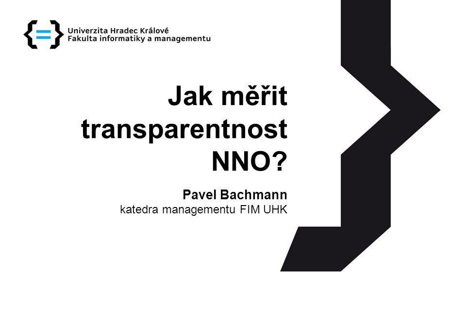 Jak měřit transparentnost NNO