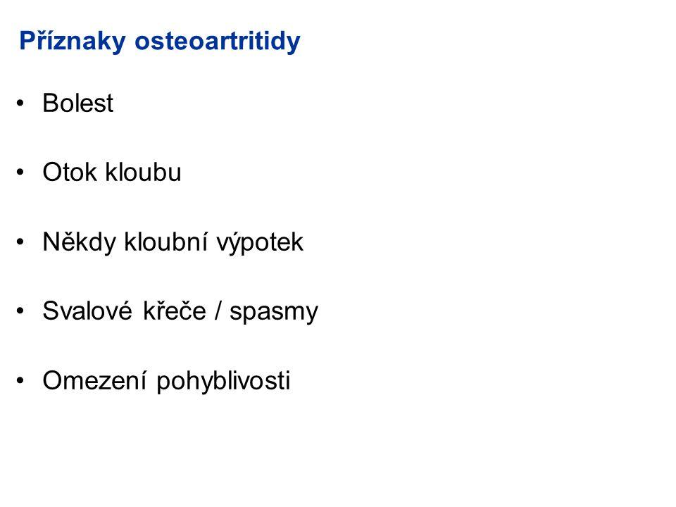 Příznaky osteoartritidy