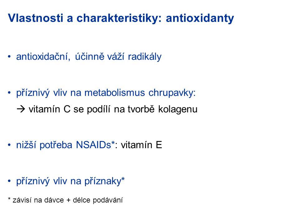 Vlastnosti a charakteristiky: antioxidanty