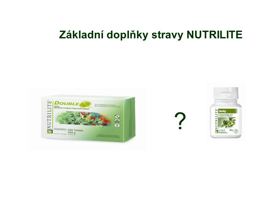 Základní doplňky stravy NUTRILITE