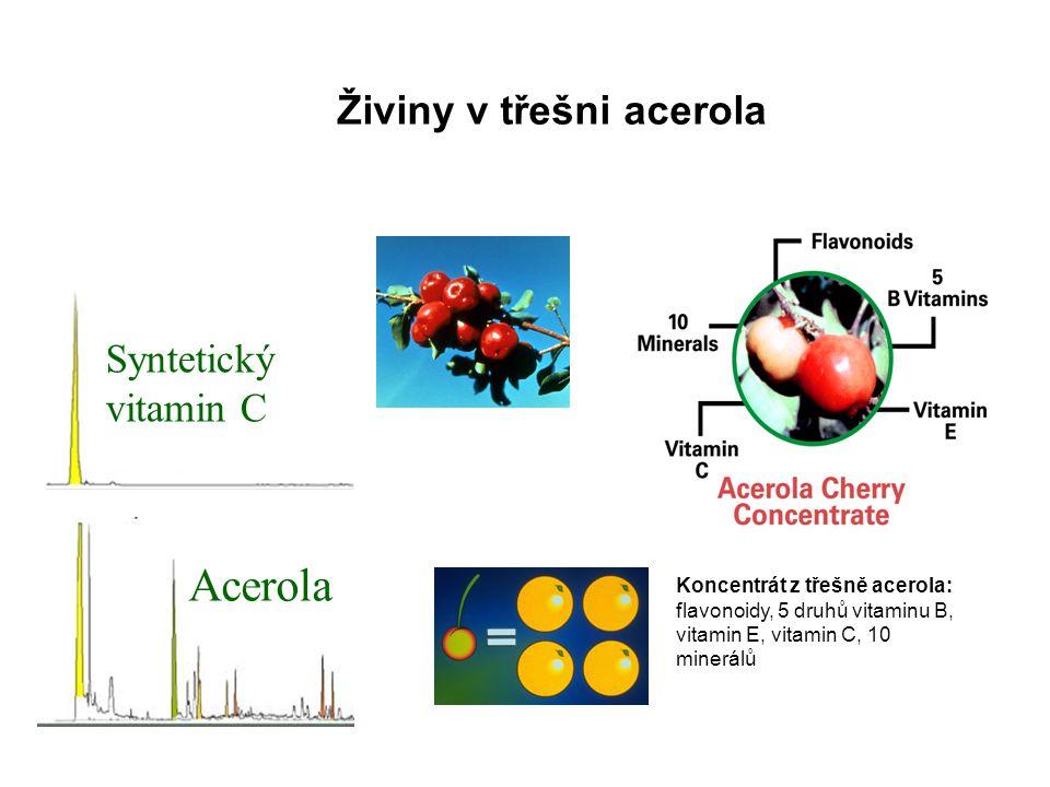 Acerola Živiny v třešni acerola Syntetický vitamin C