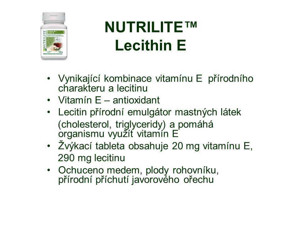 Vynikající kombinace vitamínu E přírodního charakteru a lecitinu
