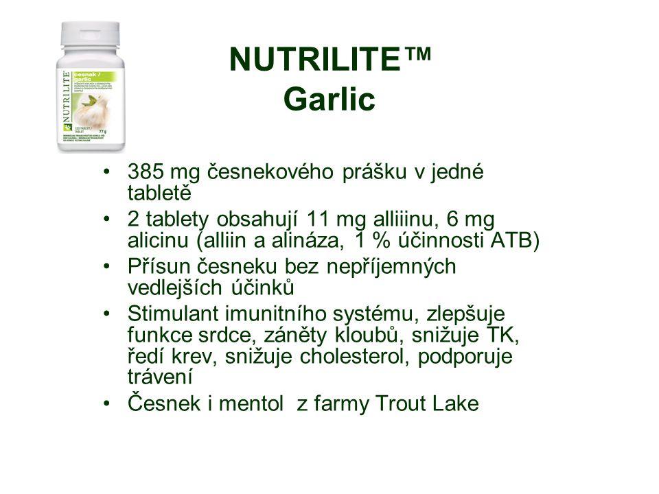 385 mg česnekového prášku v jedné tabletě