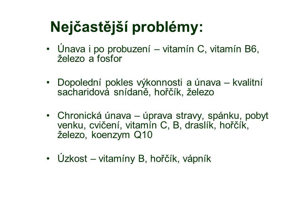 Nejčastější problémy:
