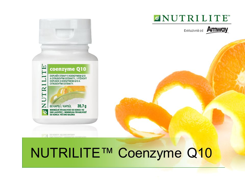 Exkluzivně od NUTRILITE™ Coenzyme Q10