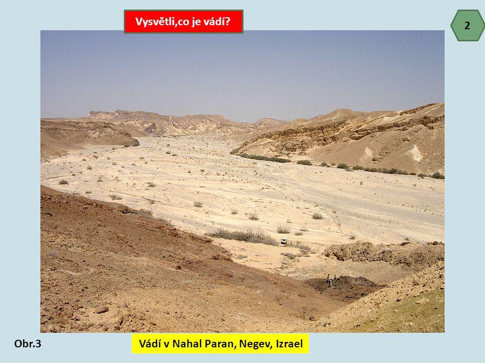 Vádí v Nahal Paran, Negev, Izrael