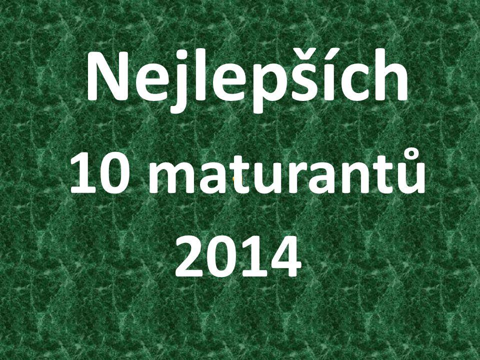 Nejlepších 10 maturantů 2014
