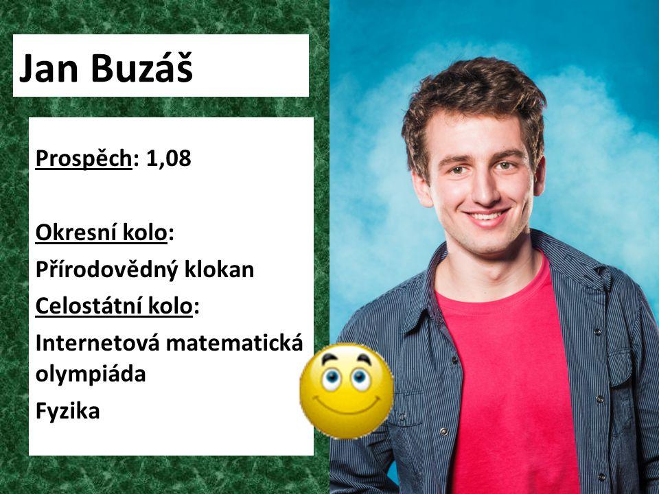 Jan Buzáš Prospěch: 1,08 Okresní kolo: Přírodovědný klokan