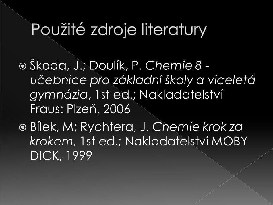 Použité zdroje literatury