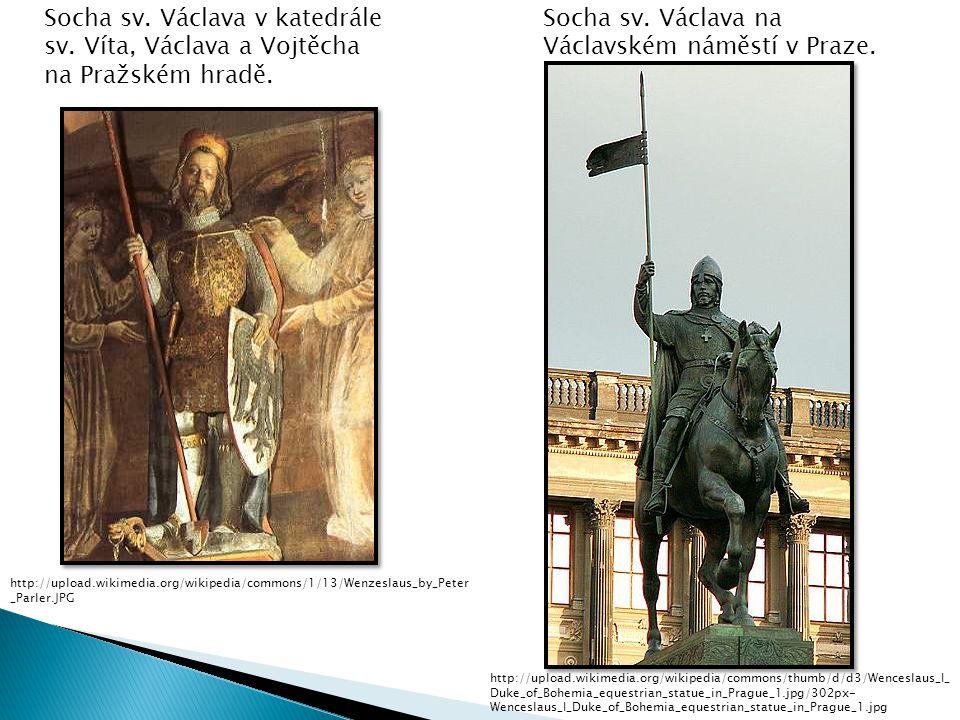 Socha sv. Václava na Václavském náměstí v Praze.