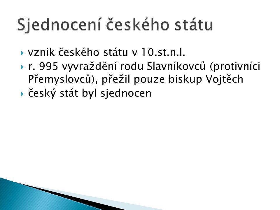 Sjednocení českého státu
