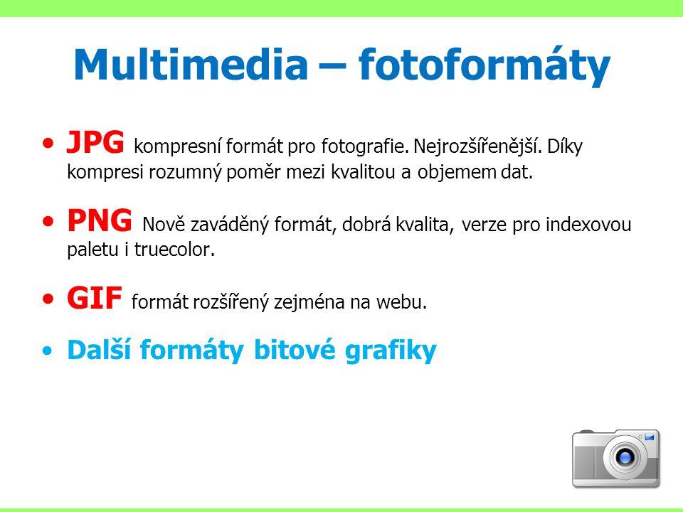 Multimedia – fotoformáty