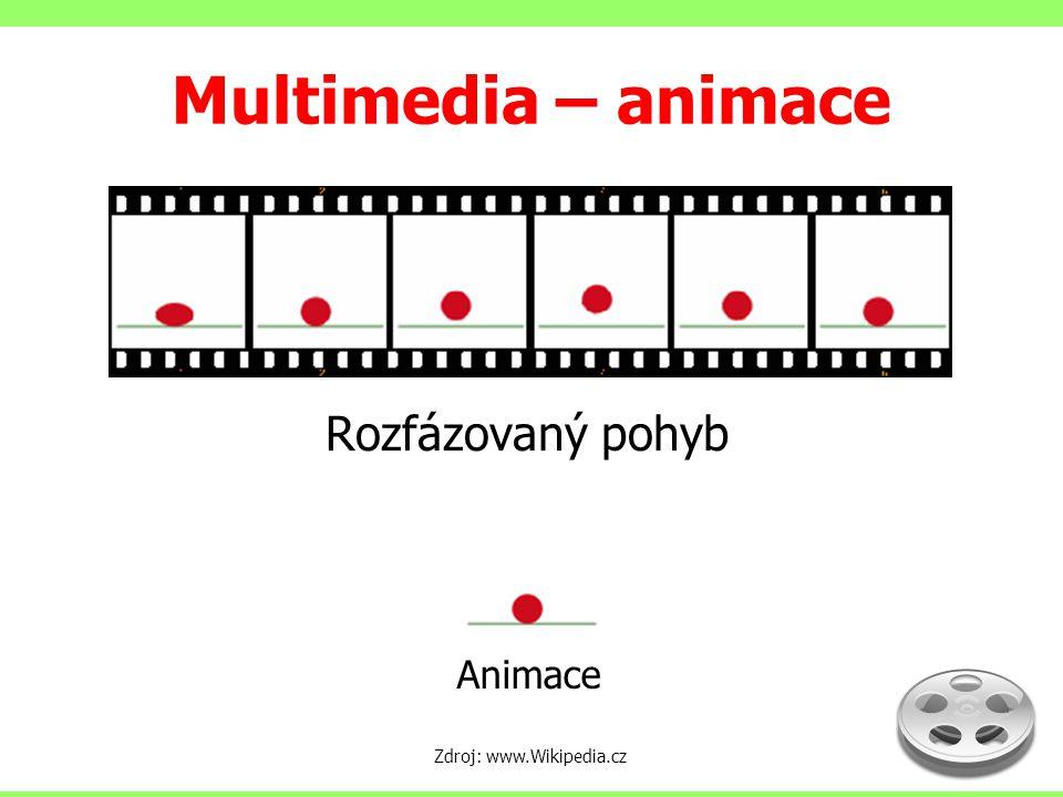 Multimedia – animace Rozfázovaný pohyb Animace Zdroj: www.Wikipedia.cz