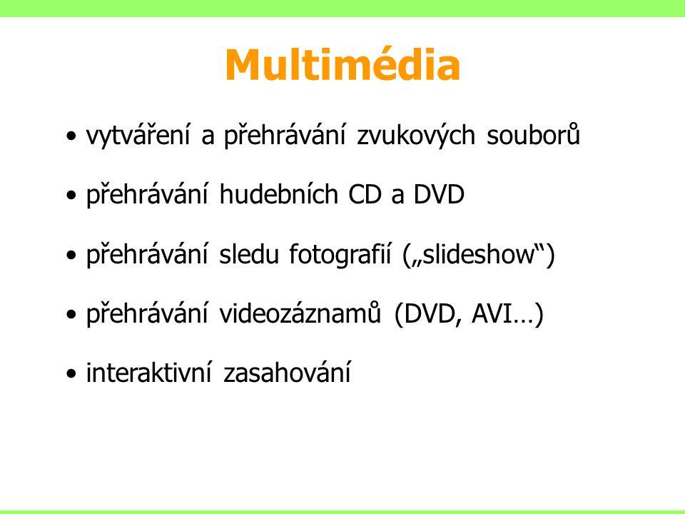 Multimédia vytváření a přehrávání zvukových souborů
