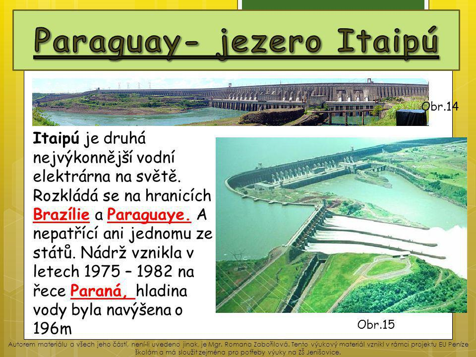 Paraguay- jezero Itaipú