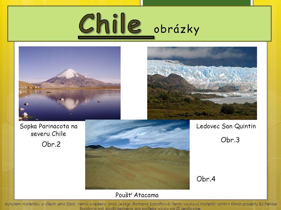 Sopka Parinacota na severu Chile