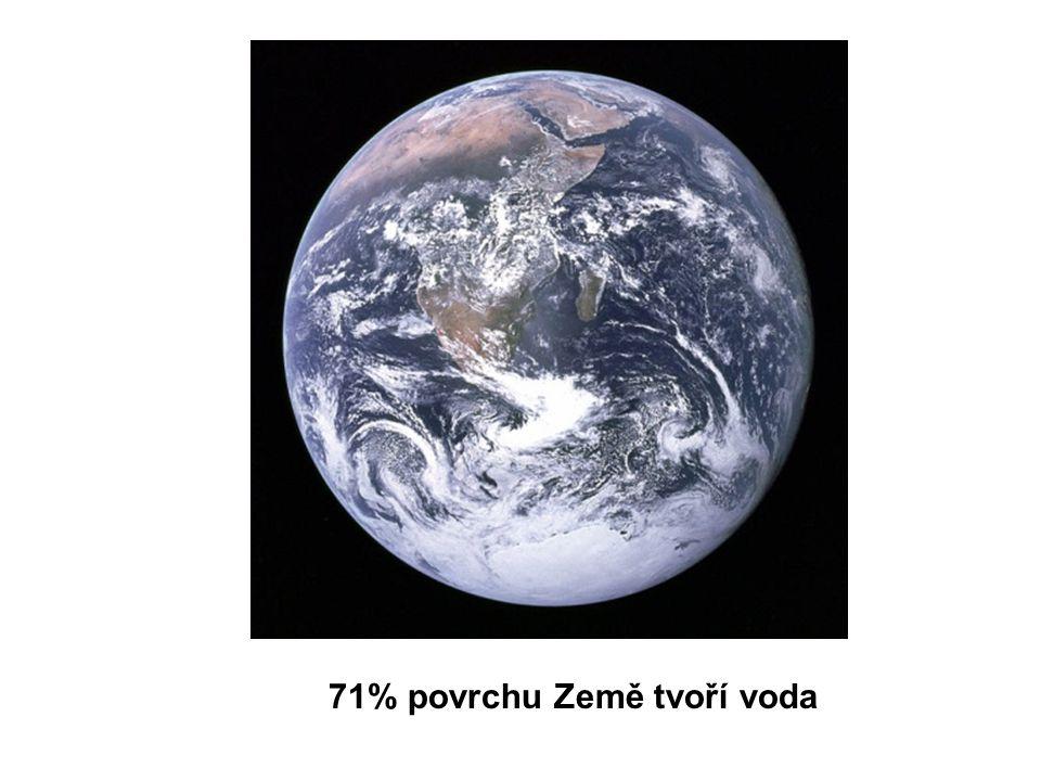71% povrchu Země tvoří voda