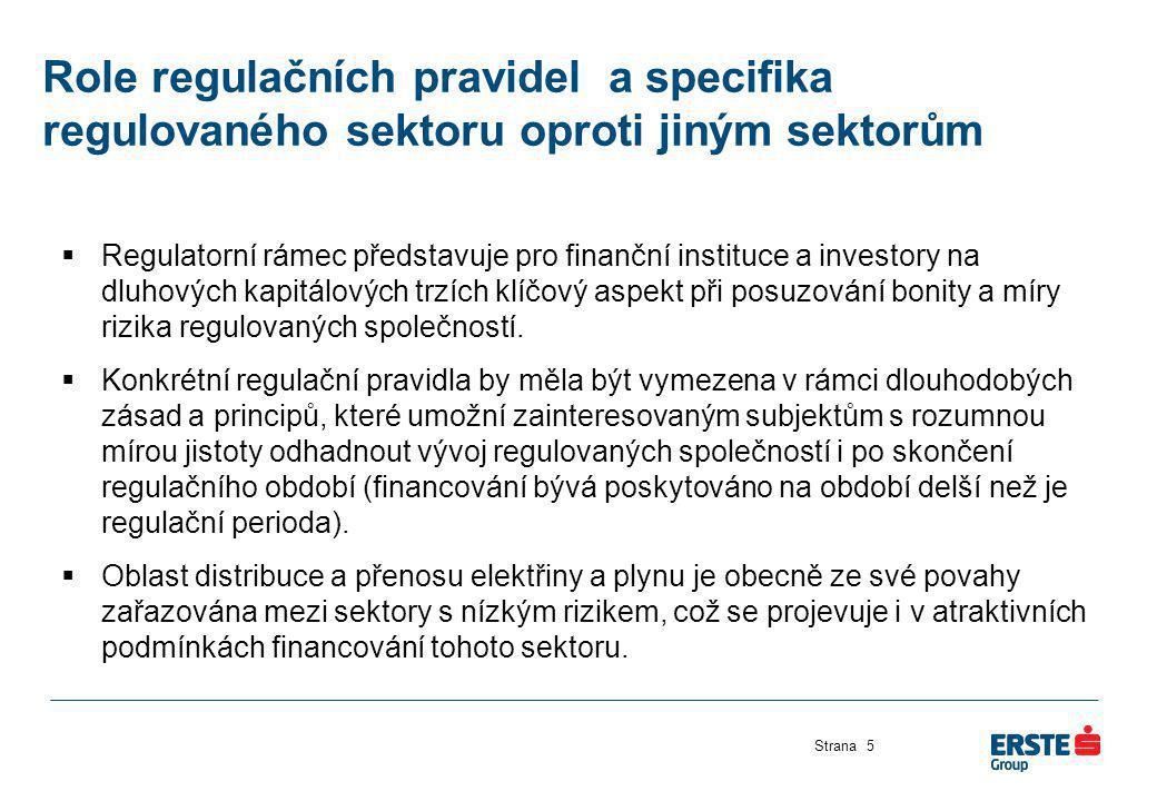 Role regulačních pravidel a specifika regulovaného sektoru oproti jiným sektorům