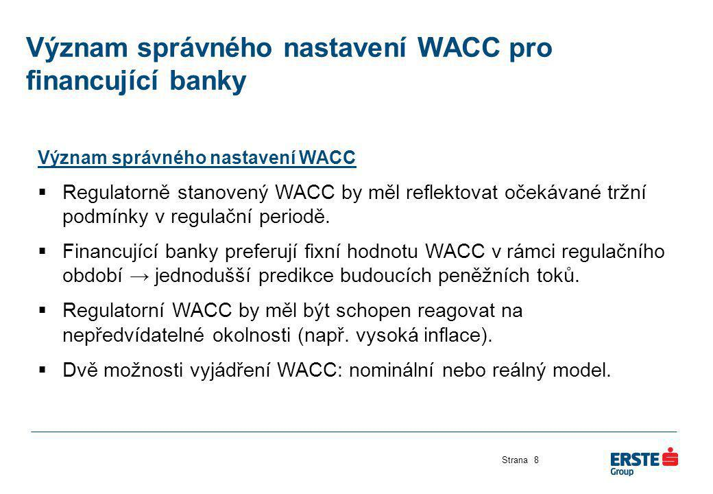 Význam správného nastavení WACC pro financující banky