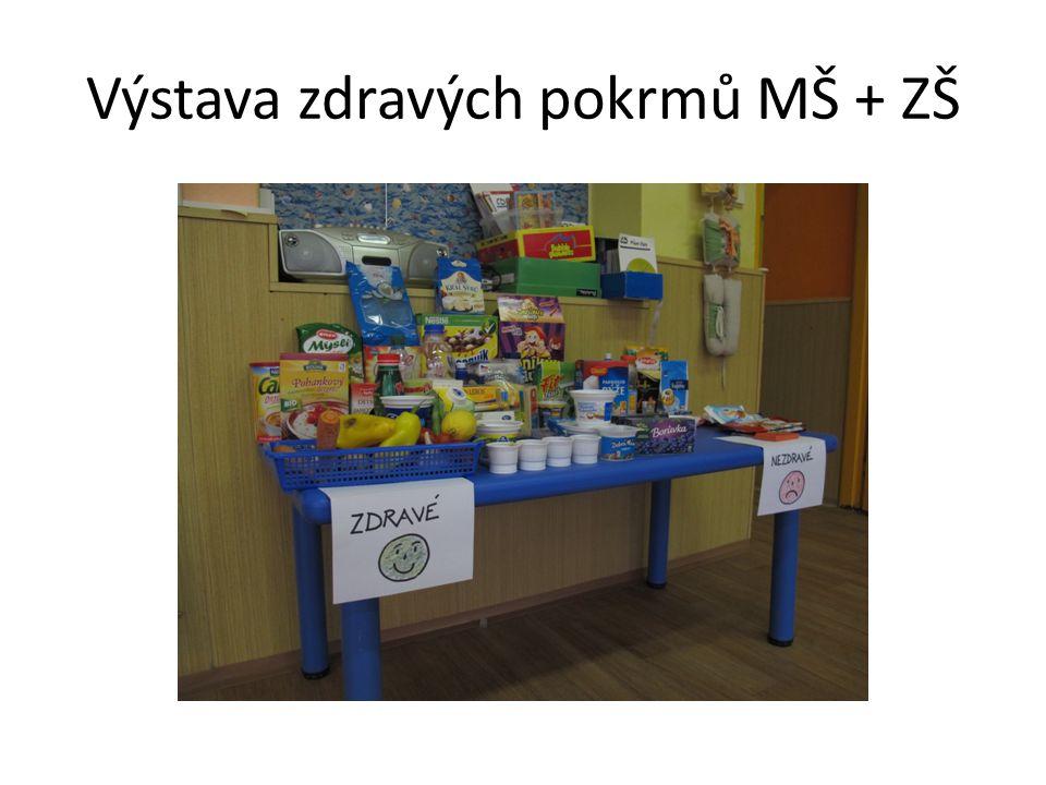 Výstava zdravých pokrmů MŠ + ZŠ