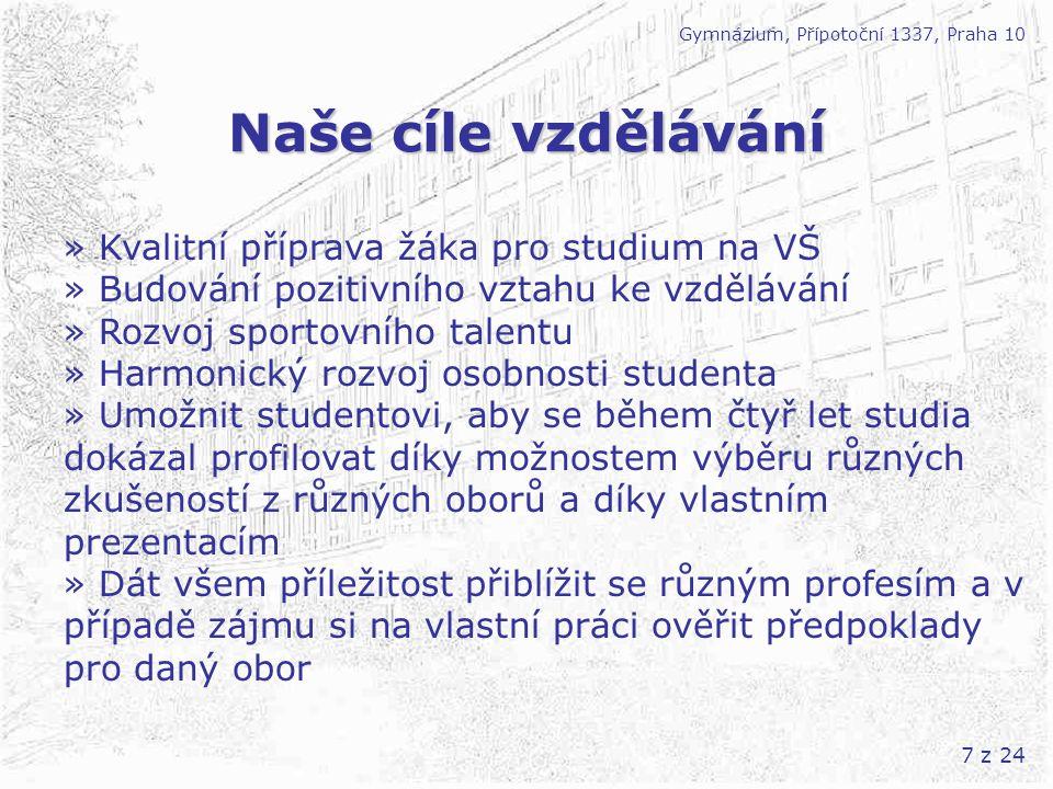 Naše cíle vzdělávání » Kvalitní příprava žáka pro studium na VŠ