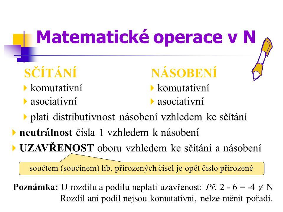 Matematické operace v N
