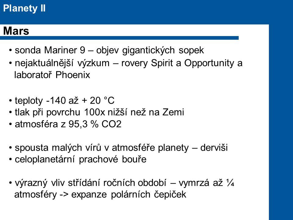 Mars Planety II sonda Mariner 9 – objev gigantických sopek