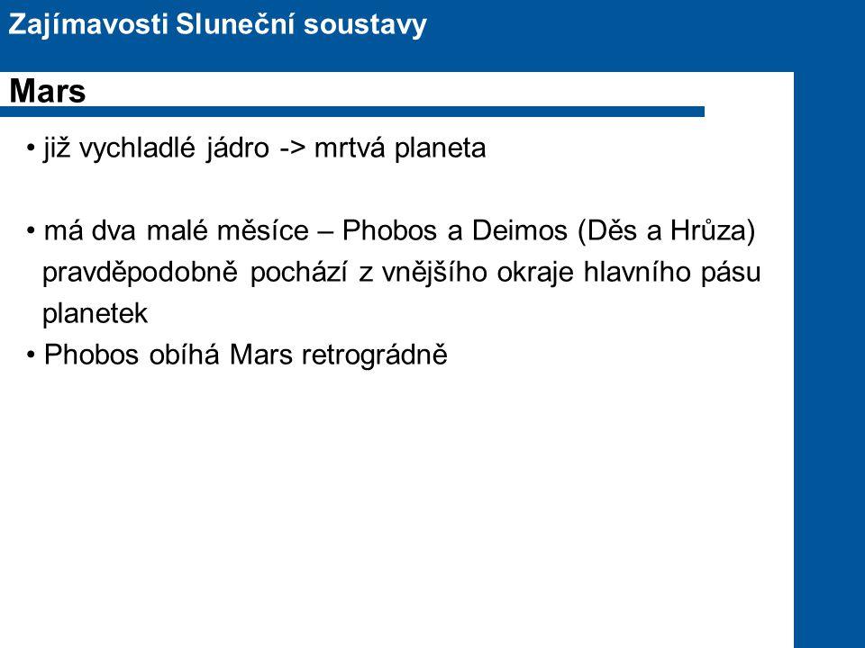 Mars Zajímavosti Sluneční soustavy