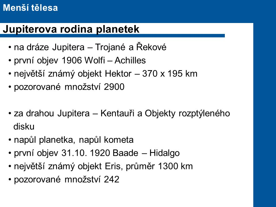 Jupiterova rodina planetek