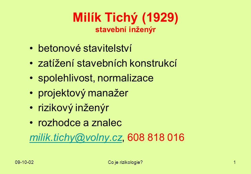Milík Tichý (1929) stavební inženýr