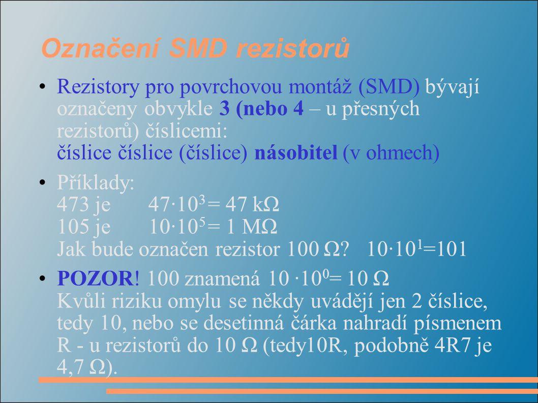 Označení SMD rezistorů