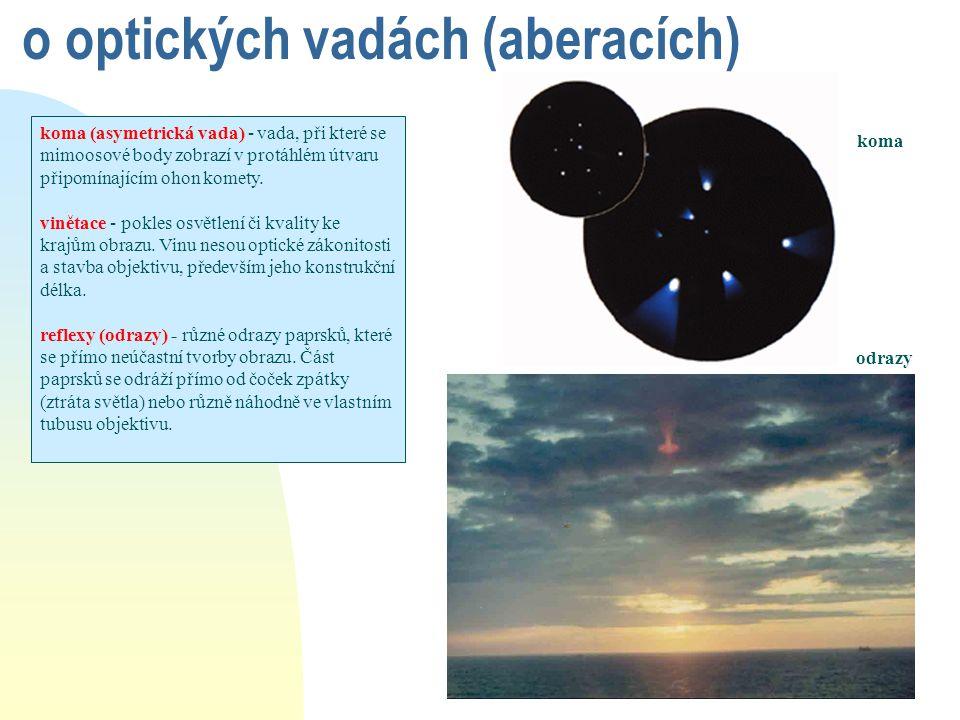 o optických vadách (aberacích)