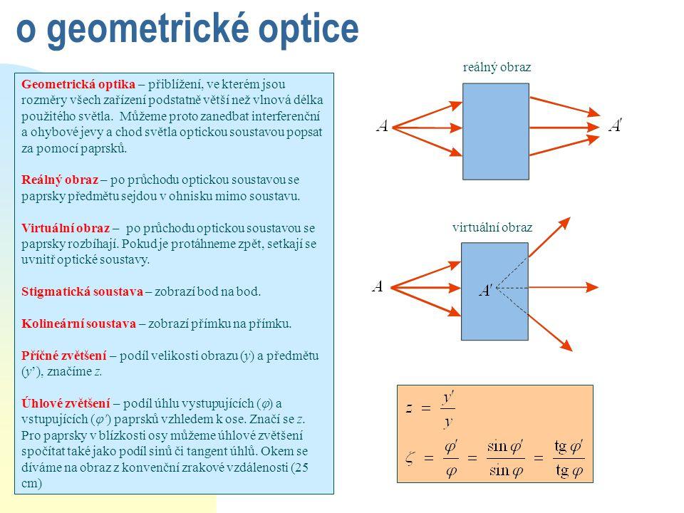 o geometrické optice reálný obraz