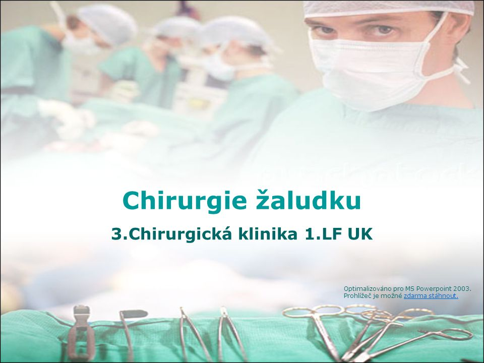 3.Chirurgická klinika 1.LF UK