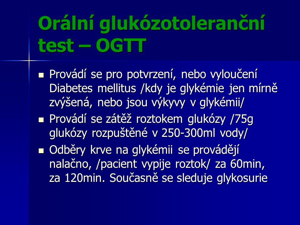 Orální glukózotoleranční test – OGTT