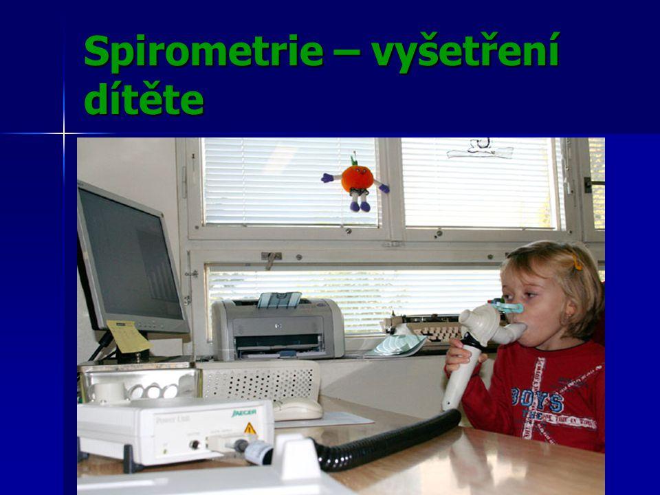 Spirometrie – vyšetření dítěte