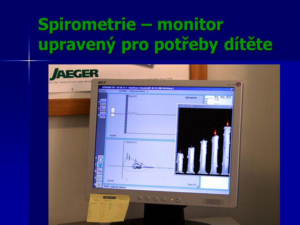 Spirometrie – monitor upravený pro potřeby dítěte
