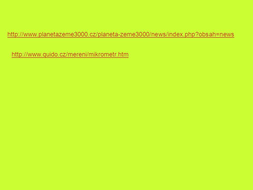 http://www. planetazeme3000. cz/planeta-zeme3000/news/index. php
