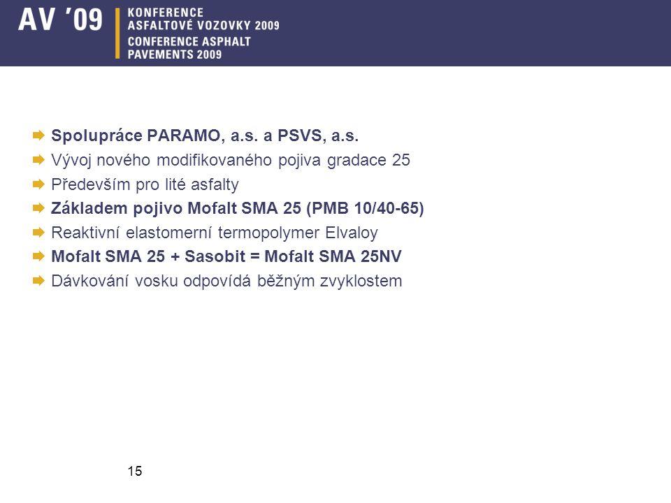 Spolupráce PARAMO, a.s. a PSVS, a.s.