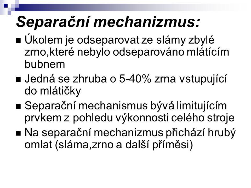 Separační mechanizmus: