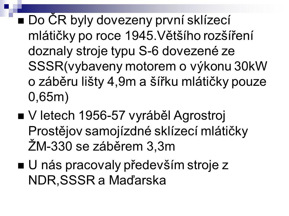 Do ČR byly dovezeny první sklízecí mlátičky po roce 1945