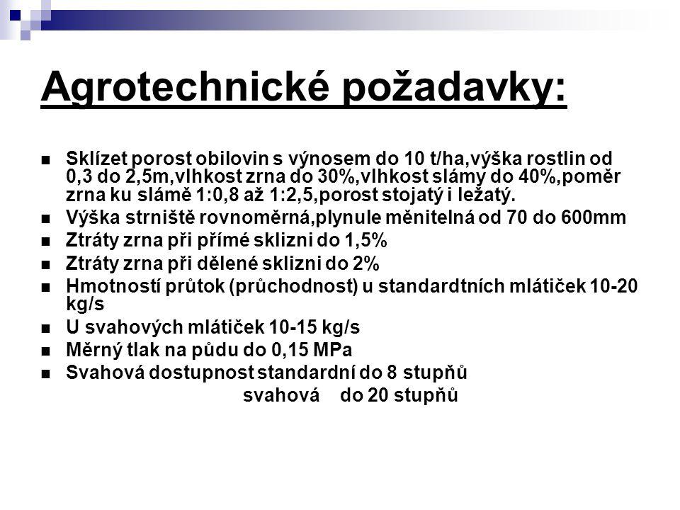 Agrotechnické požadavky: