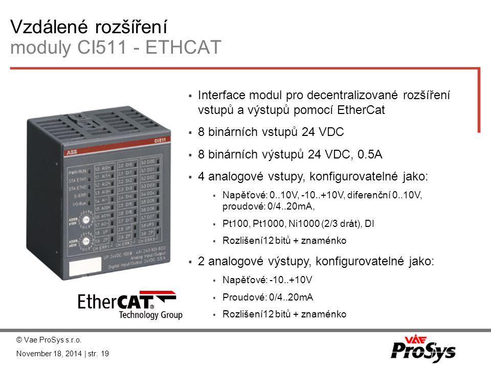 Vzdálené rozšíření moduly CI511 - ETHCAT