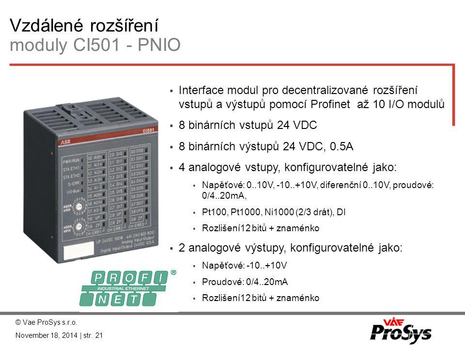 Vzdálené rozšíření moduly CI501 - PNIO