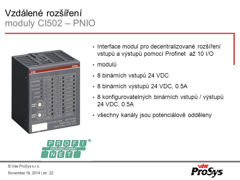 Vzdálené rozšíření moduly CI502 – PNIO