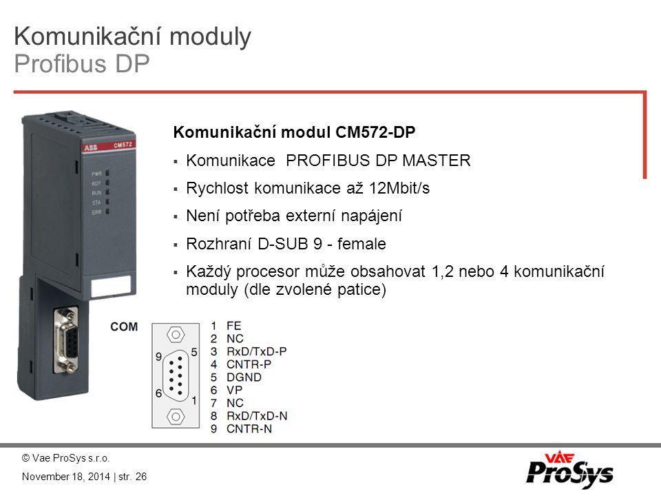Komunikační moduly Profibus DP