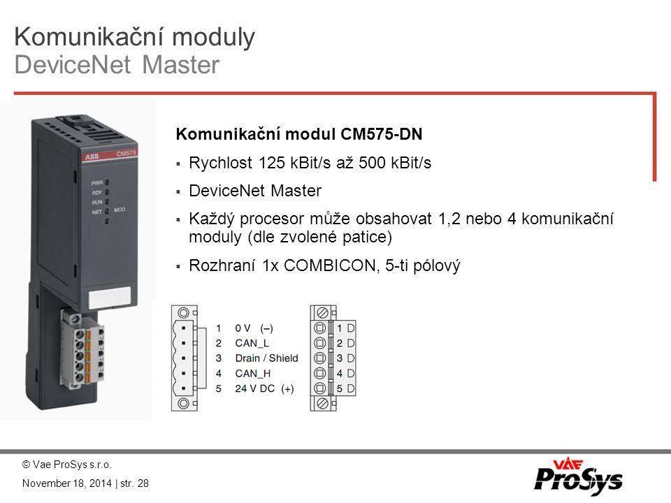 Komunikační moduly DeviceNet Master
