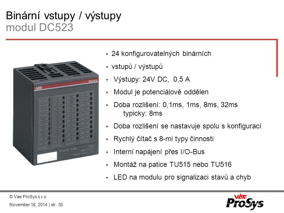 Binární vstupy / výstupy modul DC523