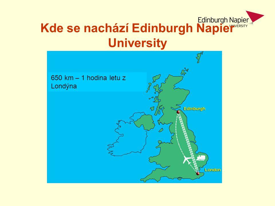 Kde se nachází Edinburgh Napier University